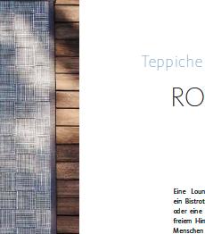 Teppiche für den Außenbereich, Artikel für ein Special Interest Magazin, Ulrike Reschke